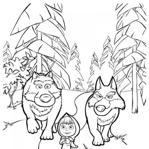 Masha passeggia con i lupi