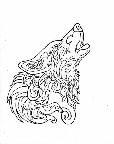 lupo che ulula disegno