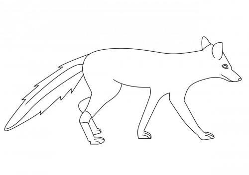 lupo da colorare per bambini