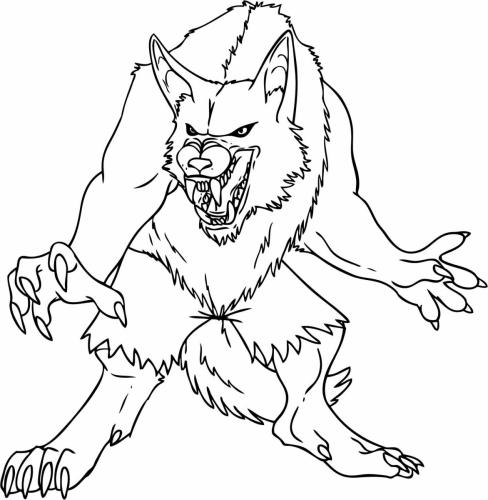 lupo mannaro disegno