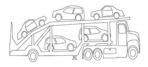 macchine e camion da colorare