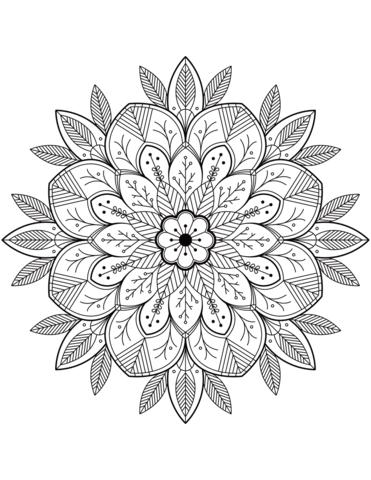 mandala da colorare da stampare