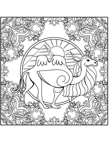 mandala da colorare e stampare di animali