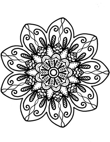 mandala da colorare fiori