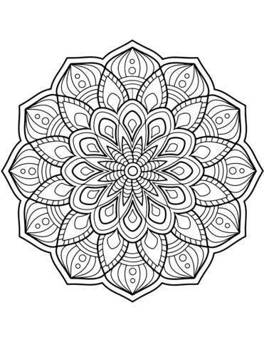 mandala da colorare pdf