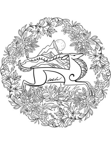 mandala da stampare animali