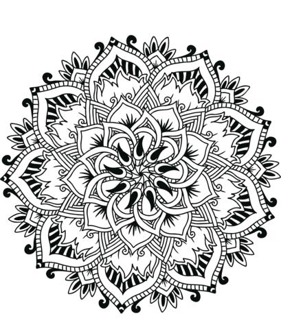 mandala di fiori da colorare