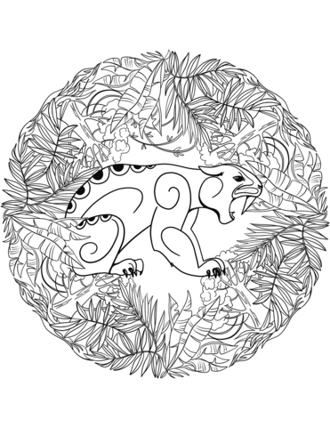 mandala disegni giaguaro