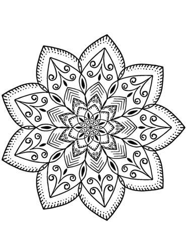 mandala fiori da colorare