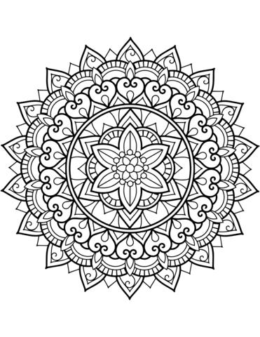mandala geometrici da colorare