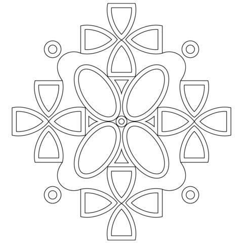 mandala invernali da colorare per bambini