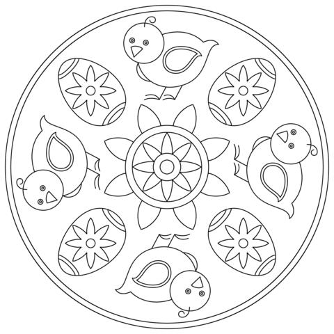 mandala semplici pasqua
