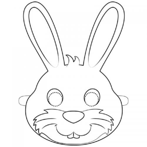 Maschera coniglio da colorare