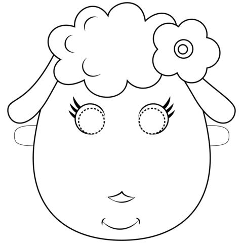 maschera di carnevale da colorare pecora