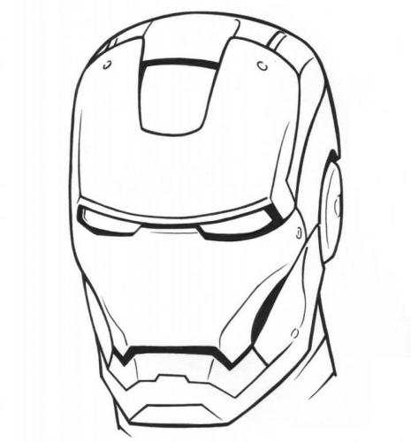 maschera Iron Man da colorare