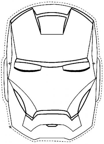 maschera Iron Man da ritagliare