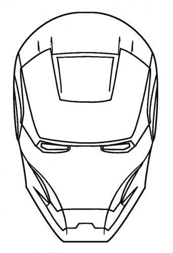 maschera Iron Man da stampare