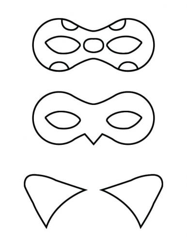 maschera Ladybug da colorare