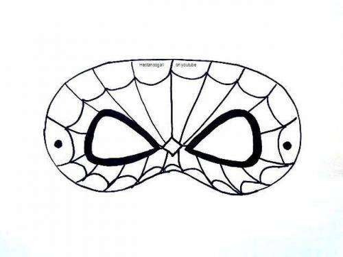maschera spiderman da colorare