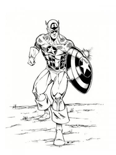 colorare capitan america