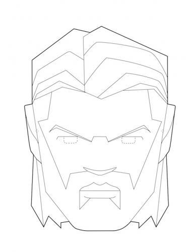 Maschere di carnevale da colorare Avengers Thor