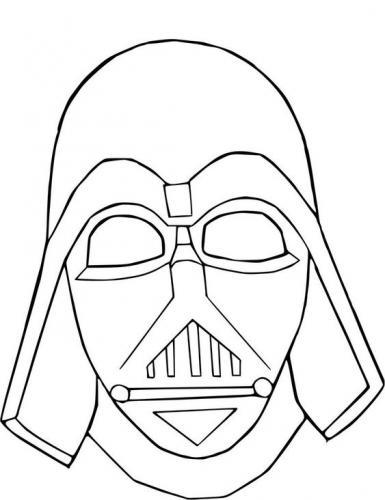 Maschere di Carnevale da colorare Star Wars