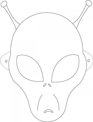 maschera da colorare