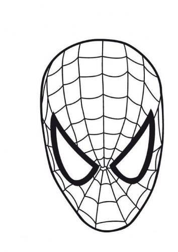 maschere spiderman da colorare