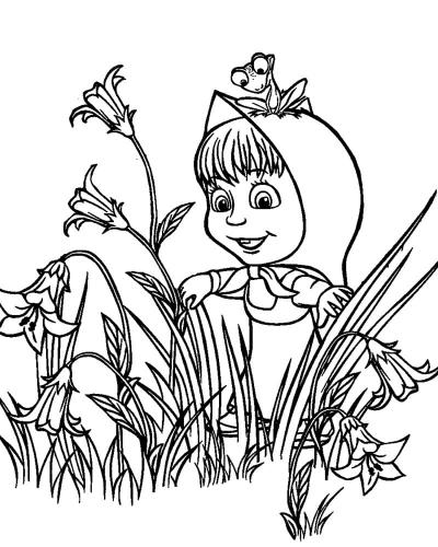 Masha tra i fiori
