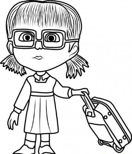 Dasha con la valigia