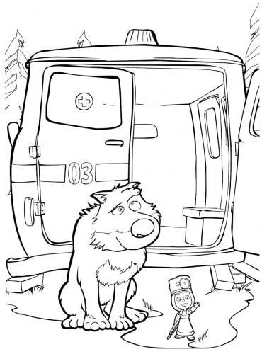 Il lupo di Masha e Orso pensieroso