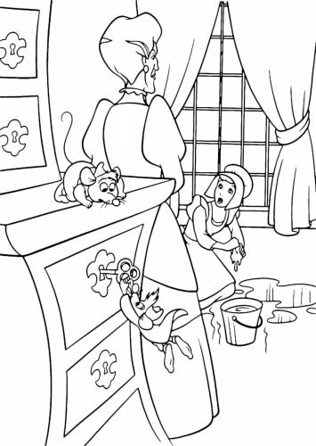 La matrigna con Cenerentola