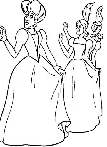 La matrigna con le sorellastre al ballo