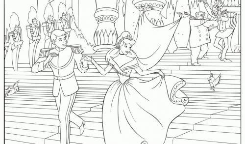 La principessa Cenerentola e il principe sposi