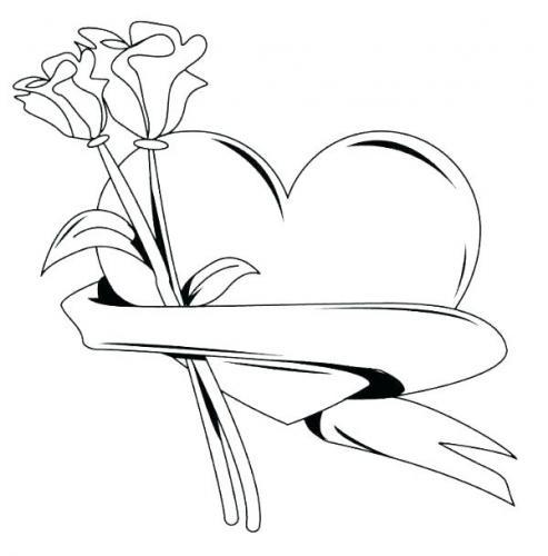 mazzi di rose con un cuore