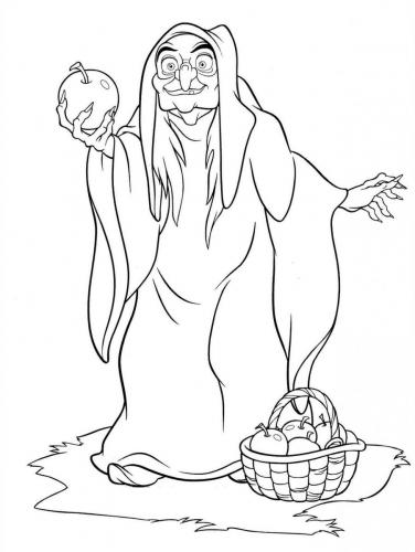 La strega con la mela avvelenata
