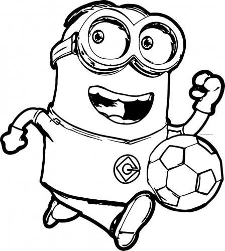 minion gioca a pallone