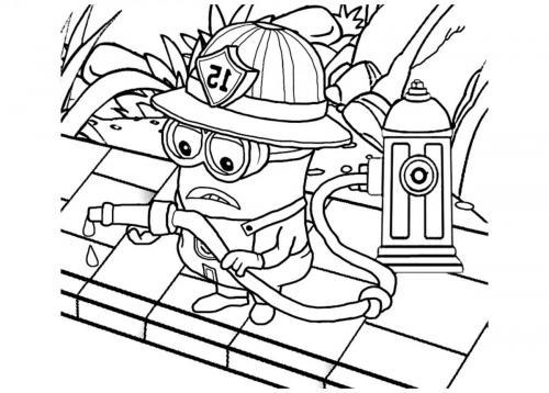 minions pompiere