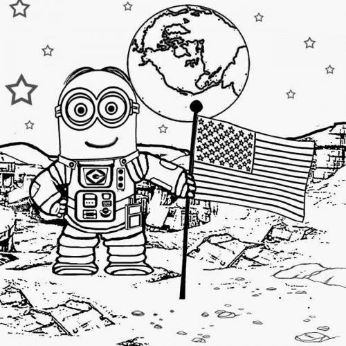 minions sulla luna