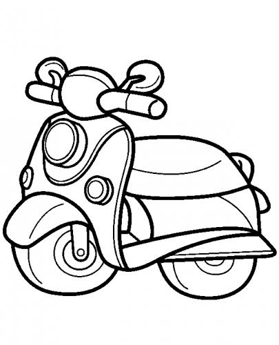 moto colorare
