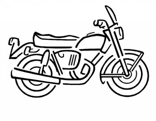 motocicletta da colorare