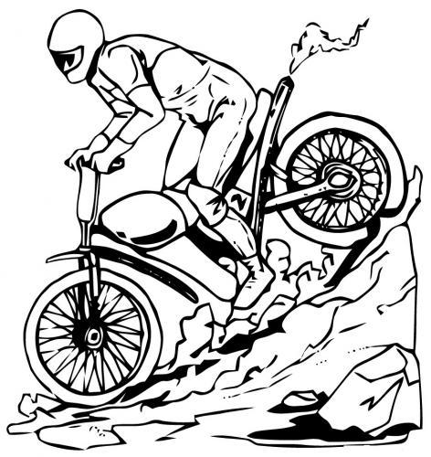 motocross da colorare