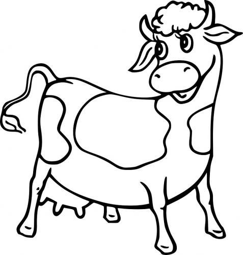 disegno simpatico mucca