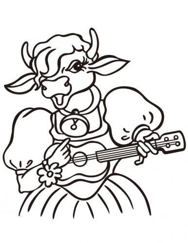 mucca che suona