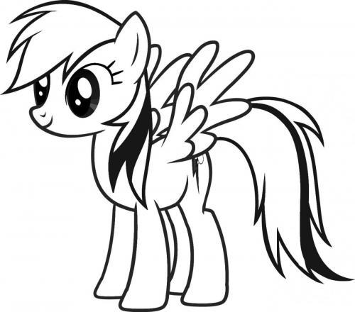 My Little Pony da colorare Rainbow Dash