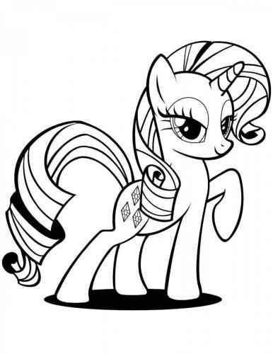 My Little Pony Rarity da colorare