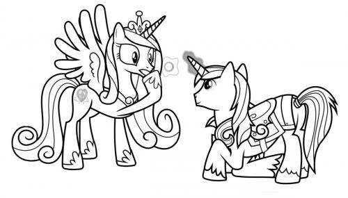 My Little Pony stampa e colora