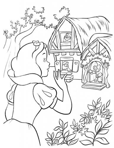 Biancaneve trova la casa dei nani