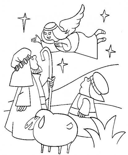 Angelo annuncia la nascita di Gesù