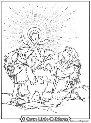 I pastori ammirano Gesù bambino